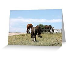 Just Over The Hill Greeting Card