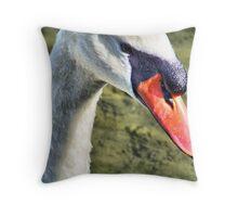 Close-up Swan Throw Pillow