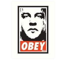 OBEY: CHRIS CHRISTIE Art Print