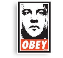 OBEY: CHRIS CHRISTIE Canvas Print