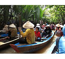 Mekong traffic jam - Vietnam Photographic Print
