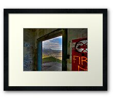 Mt. Tamalpais from abandoned building, Marin Headlands Framed Print