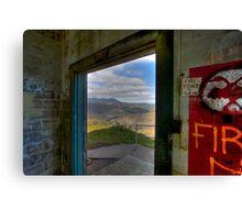 Mt. Tamalpais from abandoned building, Marin Headlands Canvas Print