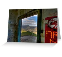 Mt. Tamalpais from abandoned building, Marin Headlands Greeting Card