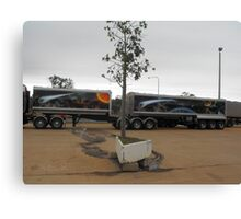 Rig's trailer to Match Canvas Print