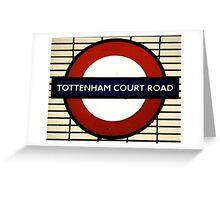 Tottenham Court Road Greeting Card
