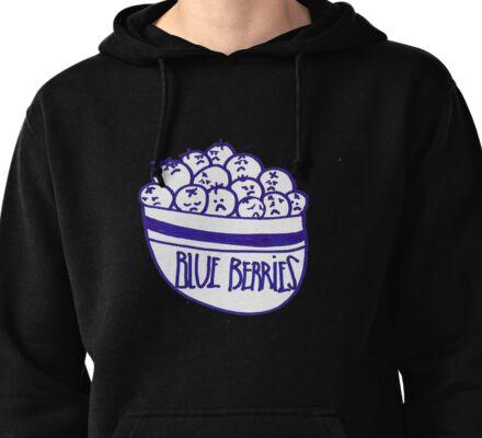 Blue Berries Pullover Hoodie