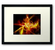 Creature Gold Red Framed Print