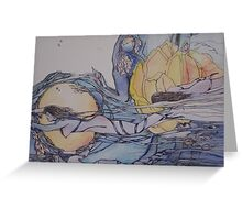 swimming through my life in ribbons Greeting Card