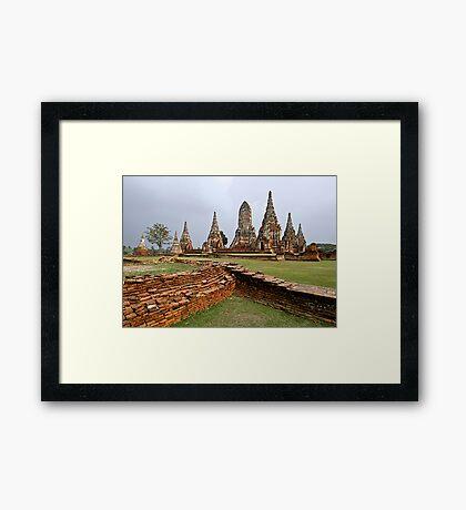 Ancient Ayuthaya Framed Print