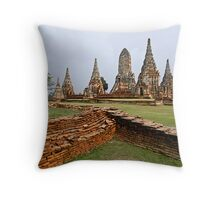 Ancient Ayuthaya Throw Pillow