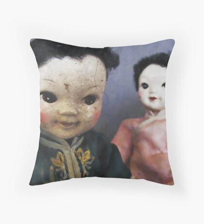 Dolls ll Throw Pillow