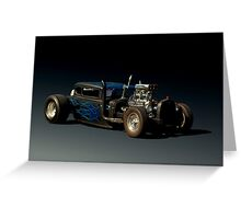 "1930 Ford Rat Rod ""Got Beer""   Greeting Card"