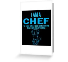 I'm a chef Greeting Card