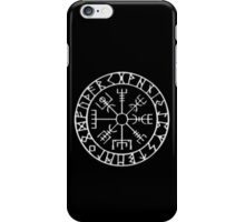Vegvísir (Icelandic 'sign post') Symbol - CHROME iPhone Case/Skin