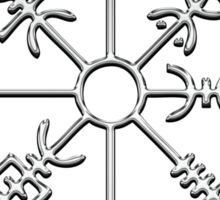 Vegvísir (Icelandic 'sign post') Symbol - CHROME Sticker