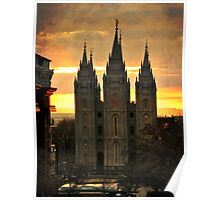 Salt Lake LDS Temple Poster