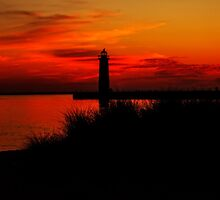 Lake Michigan Summer Night by Kadwell