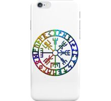 Vegvísir (Icelandic 'sign post') Symbol - COLOR BURST iPhone Case/Skin