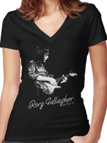 Rory Gallagher Irish tour 74 Women's Fitted V-Neck T-Shirt