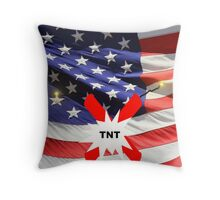 American Flag with Dynomite Throw Pillow