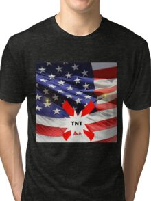 American Flag with Dynomite Tri-blend T-Shirt