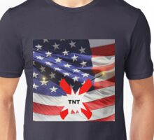 American Flag with Dynomite Unisex T-Shirt