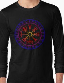 Vegvísir (Icelandic 'sign post') Symbol - SUMMER Long Sleeve T-Shirt
