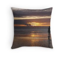 Sunset on Another Place Throw Pillow