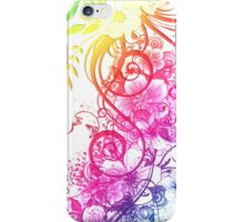 Colorful Retro Floral Pattern iPhone Case/Skin