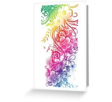 Colorful Retro Floral Pattern Greeting Card