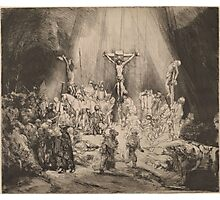 The Three Crosses - Rembrandt (1653) Photographic Print