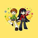 Chie and Yukiko by GoldenLegend