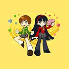 Chie and Yukiko by GoldenLegend