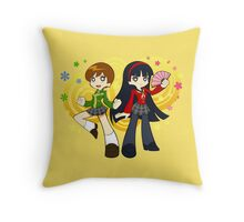 Chie and Yukiko Throw Pillow