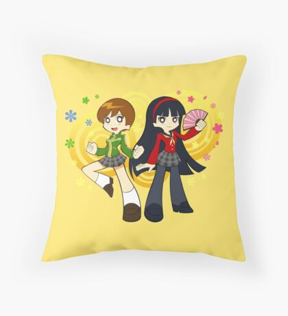 Chie and Yukiko Throw Pillow