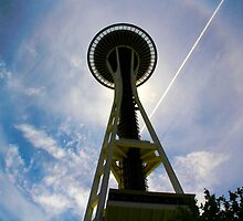 Seattle Space Needle by Barbara  Brown