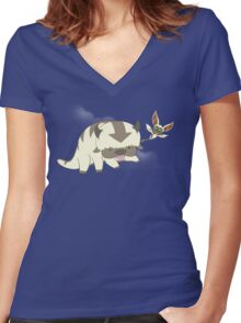 Flying Buddies Women's Fitted V-Neck T-Shirt