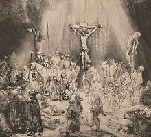 The Three Crosses - Rembrandt (1653) by ECCO