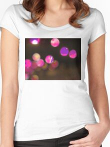 Glowing Baubles Women's Fitted Scoop T-Shirt