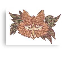 Fox head. Native american style. Ethnic animals Canvas Print