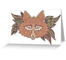 Fox head. Native american style. Ethnic animals Greeting Card