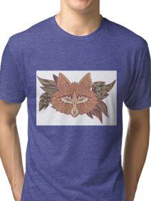 Fox head. Native american style. Ethnic animals Tri-blend T-Shirt