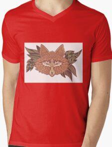 Fox head. Native american style. Ethnic animals Mens V-Neck T-Shirt