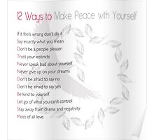 Peace with Yourself Poster