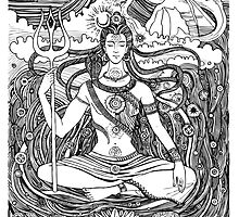 Lord Shiva and Shakti  by Mehendra