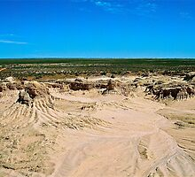 Moonscape At  Mungo National Park by Ronald Rockman