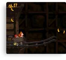 Donkey Kong Country - Mine Cart Carnage Canvas Print
