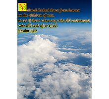 Clouds Psalm Photographic Print