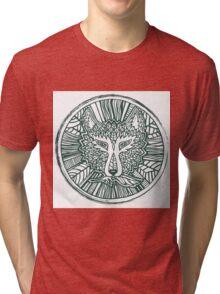 Wolf head. Native american style. Ethnic animals illustration.  Tri-blend T-Shirt